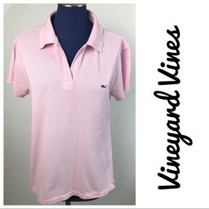 Vineyard Vines Woman's Polo in Pink Large